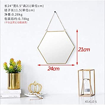Antique Diamond Wall Mirror Dressing Room Bathroom Dress UP Mirror HANGINGS for Girls M Women Xmas Gift and Mothers