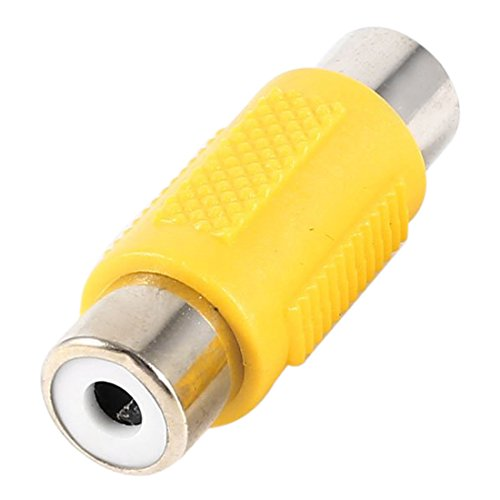 SODIAL(R) 2 Pcs Straight RCA Female to Female RCA Video Coupler Connector Yellow