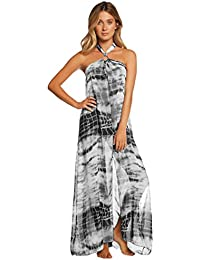 Elan Women's Sheer Maxi Cover-Up with Ring