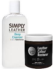 The Scratch Doctor Zestaw do czyszczenia skóry i renowacji kolorów * oferta specjalna* na sofę itp. (ciemnobrązowy)