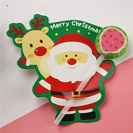 LiangDun-ES 50Pcs Santa Claus Pingüino Lollipop del Polo de la ...