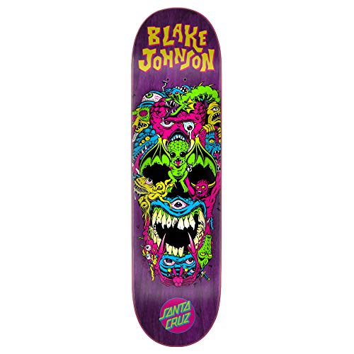 Santa Cruz Skateboard Deck Johnson Rad Skull Powerply 8.375