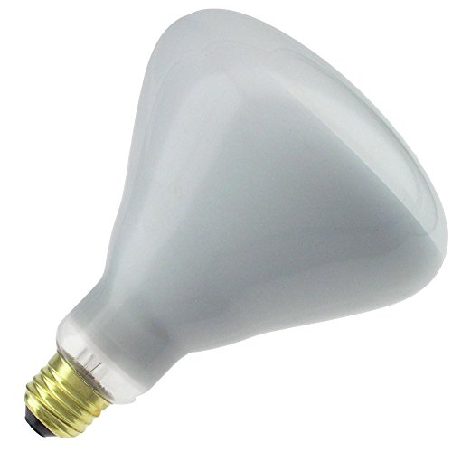 Havells (SLI) 375R40/TF 125-130V, 375 Watt, 130 Volt, BR40 Glass Size, Medium Screw (E26) Base, Infrared Tuffcoat Lightbulb (1 Bulb)
