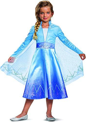 Cheap Frozen Dresses (Disguise Disney Elsa Frozen 2 Deluxe Girls' Halloween)