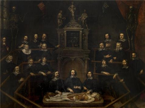 Oil Painting 'Hubertus Sporckmans - Anatomy Lesson From J.B. Van Buyten In Antwerp,17th Century' 8 x 11 inch / 20 x 27 cm , on High Definition HD canvas prints, Foyer, Home Theater And Nursery decor (22 Airbrush Lessons)