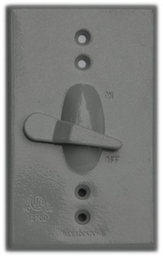 Morris 37290 Morris Products 37290 Weatherproof Toggle Switch Cover, 1 Toggle Switch, 1 Gang