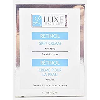Luxe Beauty Care Retinol Skin Cream, Anti-Aging 1.7oz