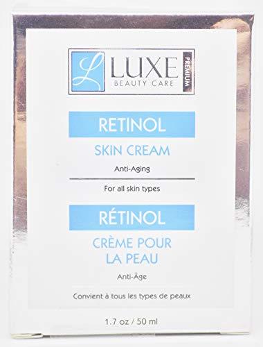 Luxe Beauty Care Retinol Skin Cream, Anti-Aging 1.7oz
