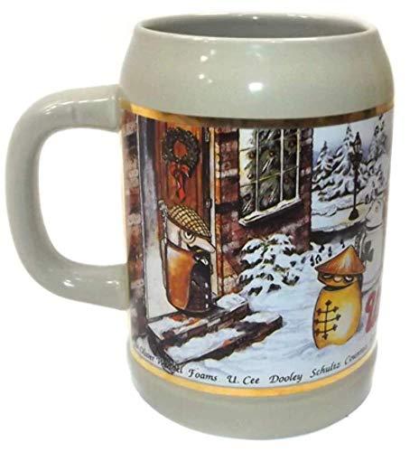 - Vintage Utica Club Beer Advertising Winter Christmas Stein Beer Mug Tankard