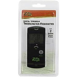 Zilla Reptile Terrarium Digital Thermometer-Hygrometer by Zilla