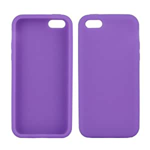 Pinnacle- Smartphone Silicon Skin Case Shell Cover Protector for Apple iPhone 5C, Purple