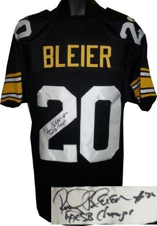 57fb6f92265 Rocky Bleier Signed Jersey - Black TB Custom Stitched Pro Style #20 4 X SB