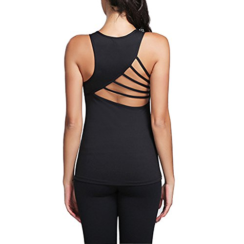 Yoga Products : Tulucky Women's Soft Lightweight Cowl Back Tops Yoga Fitness Sports Sleeveless Shirts