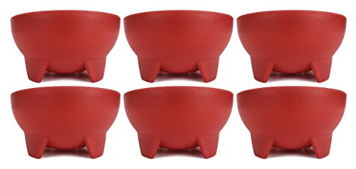 Set of 6 Red 4.5 Diameter Salsa Bowls! Black Duck Brand Salsa Bowls Perfect for Movie Night, Parties, Events and More!