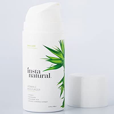 InstaNatural Vitamin C Moisturizer Cream - Facial Anti Aging & Wrinkle Reducing Lotion for Men & Women - With Hyaluronic Acid & Organic Jojoba Oil - Hydrating for Dry, Sensitive, & Oily Skin by Instanatural