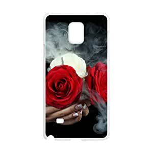 Samsung galaxy note 4 N9100 Like fire roses Phone Back Case Personalized Art Print Design Hard Shell Protection MN047223