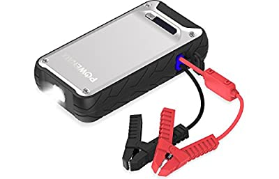 POWERALL ELEMENT 400 AMP 12,000 mAh WATER RESISTANT IP65 CAR JUMP STARTER, POWER BANK AND LED FLASHLIGHT