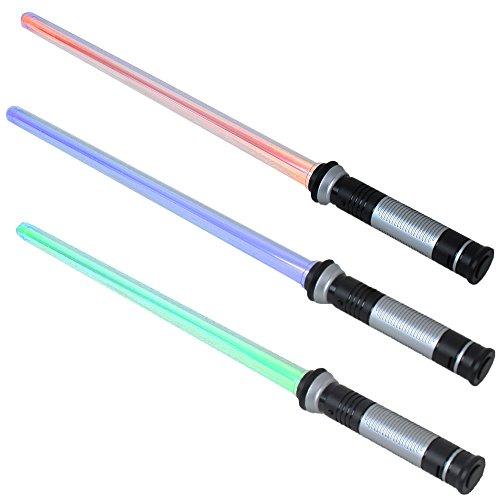 67 cm Sabre Laser Laserschwert starr Son 4 fois gratuit changeable Effets lumineux bleu rouge, vert Clignotant