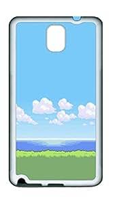 Samsung Note 3 CaseClean Pixel Landscape TPU Custom Samsung Note 3 Case Cover White