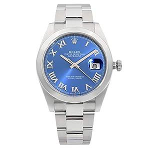 Best Epic Trends 4183TnGTKSL._SS300_ Rolex Datejust 41 Blue Roman Numeral Dial Men's Watch 126300