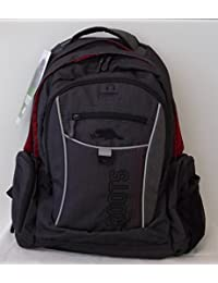 ROOTS CANADA casual backpack carry ON - Dark Grey with red roots inside , Clear window inside, iPHone pocket