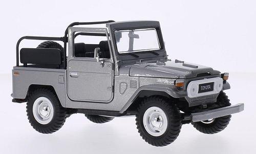 Toyota FJ40 Land Cruiser, silver, Model Car, Ready-made, Motormax 1:24