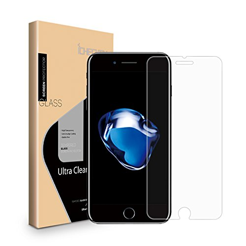 2-Pack iPhone 7 Screen Protector, Icheckey 2.5D Premium HD Clear Tempered Glass Screen Protector Cover for Apple iPhone 7 4.7