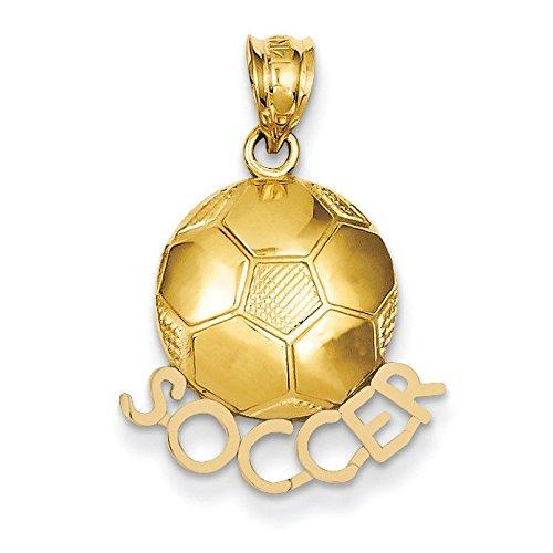 Poli massif 14 carats dos ouvert-Football-Dimensions :  25,7 x JewelryWeb - 17.7 mm