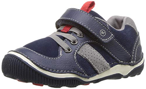 Stride Rite Boys' SRT Wes Casual Sneaker, Navy, 6.5 W US Toddler
