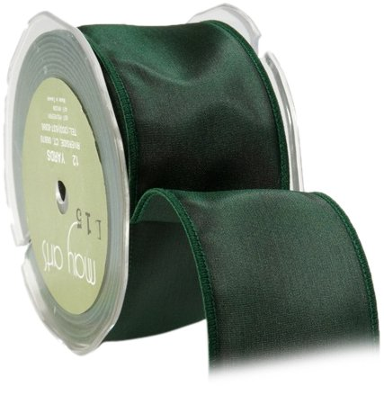 May Arts 3-Inch Wide Ribbon, Green Taffeta