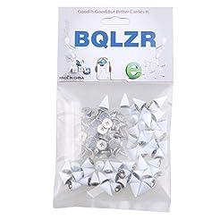 BQLZR White Metal Studs Cone Punk Spikes...