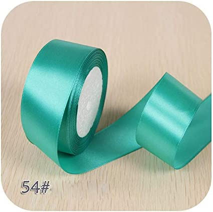 6ミリメートル1センチ1.5センチ2センチ2.5センチ4センチ5センチサテンリボンDIY人工シルクバラ工芸用品縫製アクセサリースクラップブッキング素材-Blue Green-1.5cm