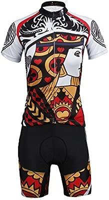 Hebike Color Poker corazón de la Mujer Ciclismo Jersey Bicicleta ...