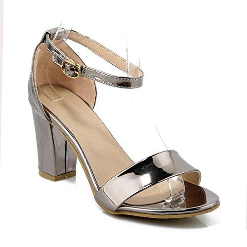 Frauen Sandalen Neue 2018 Sommer Neue High Heels Retro Sandalen Offene Spitze Fashion Slope Heel Damenmode Casual Täglichen Breathable Frauen Schuhe Grau