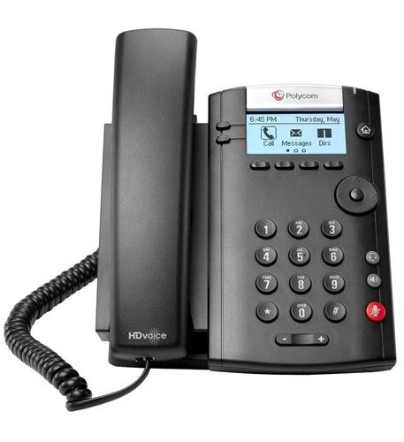 Polycom VVX 201 2-Line PoE Business Media Phone (2200-40450-025) - Power Supply Not Included