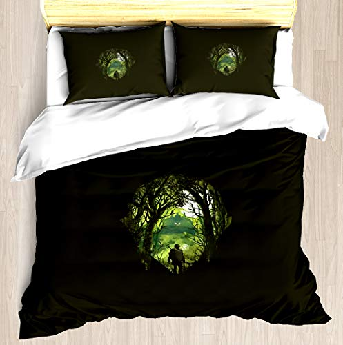 NTCBED It's Dangerous to go Alone - Duvet Cover Set Soft Comforter Cover Pillowcase Bed Set Unique Printed Floral Pattern Design Duvet Covers Blanket Cover Twin/XL Size (Zelda Duvet Cover)