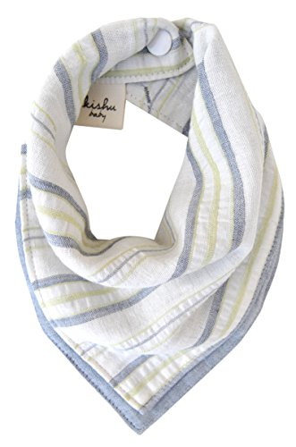 Now Designs Striped Apron (kishu baby Organic Cotton Bandana Drool Bib, Luxuriously Soft, Handmade In California From Premium Japanese Muslin, Reversible Baby Bib, Multicolor, One Size)
