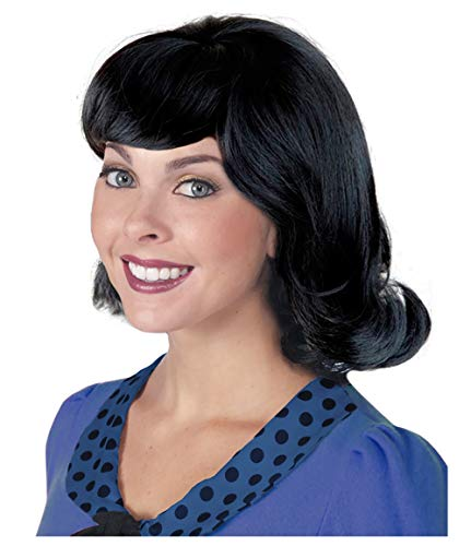 Jackie Kennedy Costume (60s Black Flip Jackie Kennedy Costume Wig 50s Wig for Women Lucy)