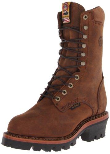 Justin Boots Logger (Justin Original Work Boots Men's Jmax Logger Work Boot,Rugged Aged Bark/Gaucho Waterproof,7 EE US)