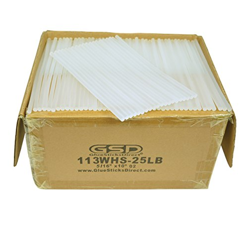 Wholesale Hot Melt Glue Sticks mini X 10'' 25 lbs bulk by GlueSticksDirect.com