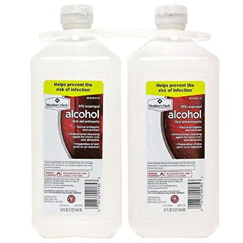 Member's Mark 91% Isopropyl Alcohol (32 fl. oz., 2 pk.) (32 Oz Rubbing Alcohol)