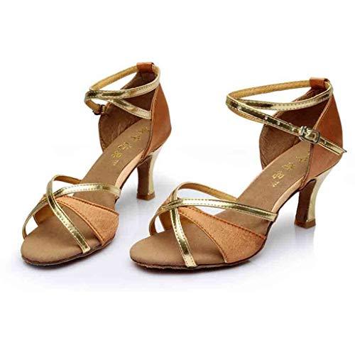 Sunnywill Marron Latine Danse Chaussures Talons À De Hauts SqwSvr