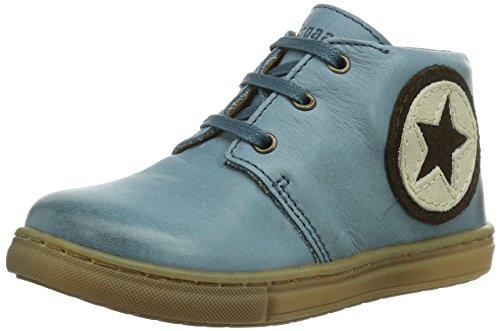 Bisgaard Schnürschuh - zapatillas deportivas altas de cuero infantil azul - Blau (26 Cobalt)