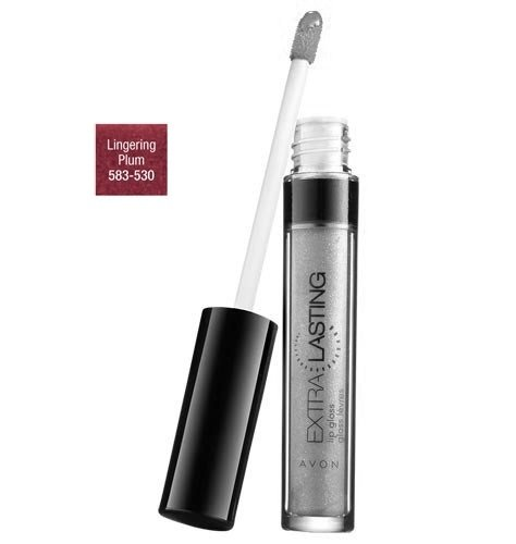 Avon Extra Lasting Lip Gloss Lingering Plum