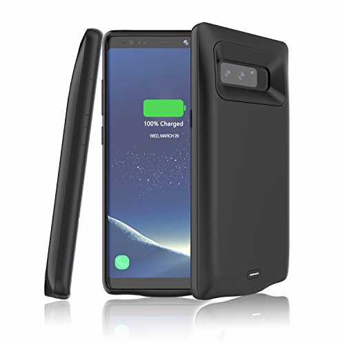 Samsung Galaxy Note 8 Battery Case,LED Indicator,5500 mAh Slim and Compact Rechargeable External Battery Portable Power Bank Charger Protective Charging Case-Black