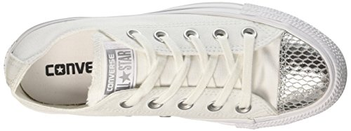 Converse White Blanc Sneakers CTAS Ox Silver Femme White 4w0r4nqT