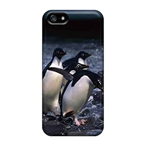 MyBox Perfect Tpu Case For Iphone 5/5s/ Anti-scratch Protector Case (animals Birds Penguins On The Rocks)