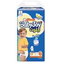 Babyjoy Cullotte Pants Diaper, Jumbo Pack Junior XXL Size 6, Count 96, 16+ KG