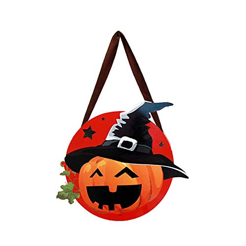 Da.Wa Halloween Decoration Children's Portable Pumpkin Bag Sugar Stereo DIY Wizard Candy Bag Kindergarten Performance Dress up Decoration Props