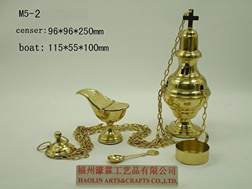 (Brass Censer Incense Burner for Church Chapel Holy Mass Altar M5-2. Our company have 21 kinds of censer for your choice)